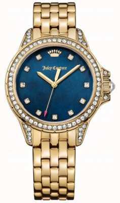 Juicy Couture Damen malibu Goldton Edelstahl blau Perlmutt 1901492