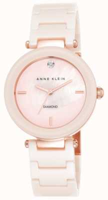 Anne Klein Damen rosa Keramik-Armband rosa Perlmutt Zifferblatt AK/N1018PMLP