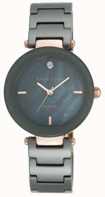 Anne Klein Womens Keramik-Armband schwarz Perlmutt Zifferblatt AK/N1018RGGY