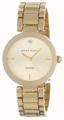 Anne Klein Womens Gold Tone Armband Gold Zifferblatt AK/N1362CHGB