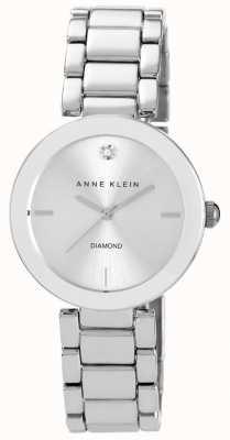 Anne Klein Damen Edelstahl Armband Silber Zifferblatt AK/N1363SVSV