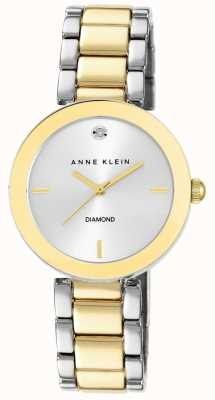 Anne Klein Womens zwei Ton Armband Silber Zifferblatt AK/N1363SVTT
