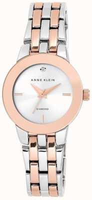 Anne Klein Womens zwei Ton Armband Silber Zifferblatt AK/N1931SVRT