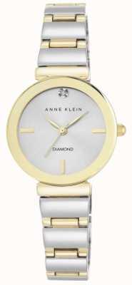 Anne Klein Frauen zwei Ton Armband Silber Zifferblatt AK/N2435SVTT