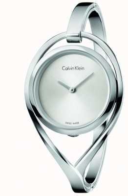 Calvin Klein Womens Licht mittel Edelstahl Bangel Silber Zifferblatt K6L2M116