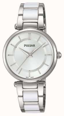 Pulsar Womans Edelstahl und weiße Uhr PH8191X1