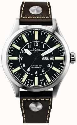 Ball Watch Company Mens Ingenieur Master ii Unternehmen Flieger automatische Leder NM1080C-L3-BK