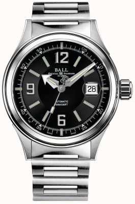 Ball Watch Company Fireman Racer Automatik Edelstahl Armband schwarzes Zifferblatt NM2088C-S2J-BKWH