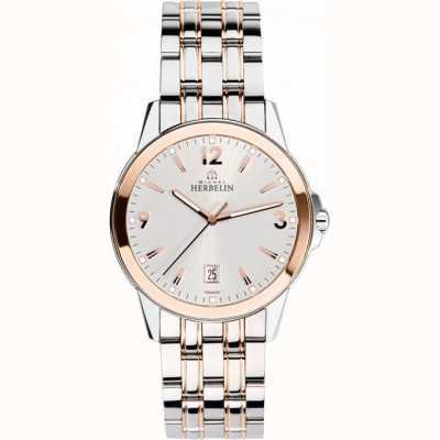 Michel Herbelin Mens Botschafter stieg Gold Pvd Armband Uhr 12250/BTR12