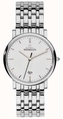 Michel Herbelin Mens-Edelstahl-Silber-Mesh 12543/B11