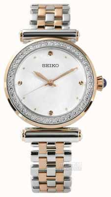 Seiko Für Frauen mit zwei Tönen Roségold SRZ466P1