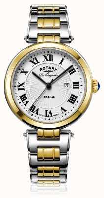 Rotary Womans Luzerne zwei Ton Silber Gold LB90188/01/L