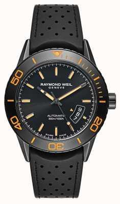 Raymond Weil Herren Automatikuhr schwarz PVD beschichtet Stahl 2760-SB2-20001