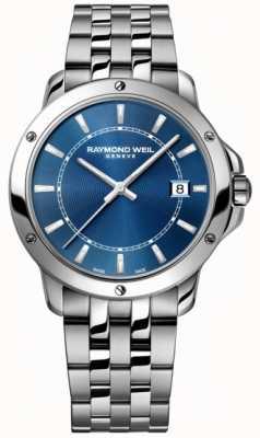 Raymond Weil Mens Tango Edelstahl blau Indexzifferblatt 5591-ST-50001