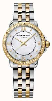 Raymond Weil Womans Tango zweifarbiger Diamant-Punkt Perlmutt 5391-SPS-00995