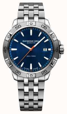 Raymond Weil Mens Tango 41mm Edelstahl blau Index Zifferblatt 8160-ST2-50001