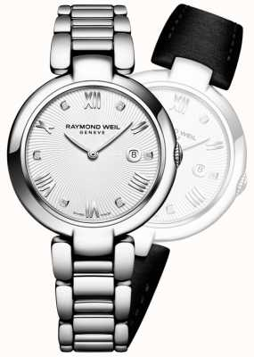 Raymond Weil Womans glänzen Edelstahl Silber Diamant 1600-ST-00618