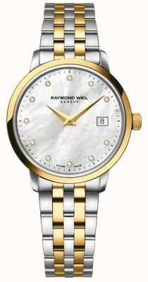 Raymond Weil Damen toccata uhr | zweifarbiges Edelstahl- / DVD-Armband | 5988-STP-97081