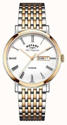 Rotary Gents zwei Ton Rose Armband GB90155/01