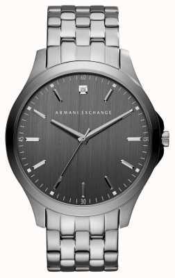 Armani Exchange Mens Gunmetalgrau Edelstahluhr AX2169