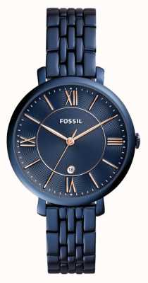Fossil Damen jacqueline blau Edelstahluhr ES4094