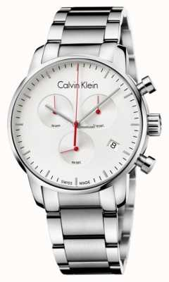 Calvin Klein Mens-Edelstahl-Stadt Chronograph K2G271Z6