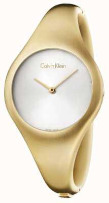 Calvin Klein Damen nackten kleinen Gold pvd Uhr K7G1S516