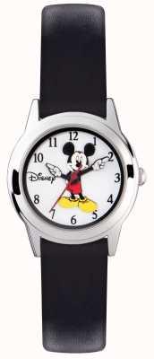 Disney Adult Mickey-Mouse-Silber-Etui schwarzes Armband MK1314