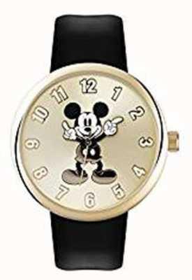 Disney Adult Mickey Maus Goldgehäuse schwarz Gurt MK1443
