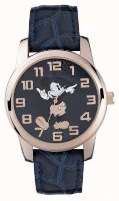 Disney Adult Mickey Mouse Roségold Gehäuse blaues Armband MK1456