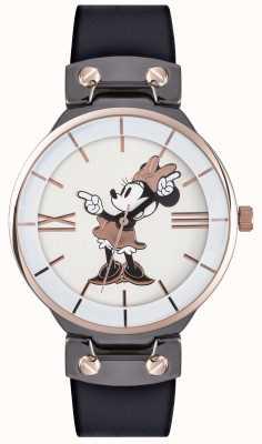 Disney Adult Minnie Maus Roségold Gehäuse schwarz Armband MN1564