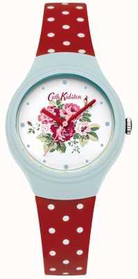 Cath Kidston Damen Blume Zifferblatt rot Polka Dot Uhr CKL024UR
