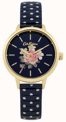 Cath Kidston Damen Marine Polka Dot rich Uhr CKL009UG