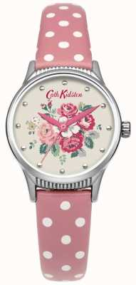 Cath Kidston Damen Wald Haufen rosa Fleck Leder Uhr CKL012PS