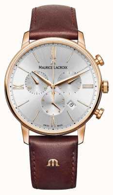 Maurice Lacroix Eliros 40mm Herrenuhr braunem Leder Rose vergoldet EL1098-PVP01-111-1
