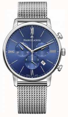 Maurice Lacroix Mens eliros Chronograph mit blauen Netzband EL1098-SS002-410-1