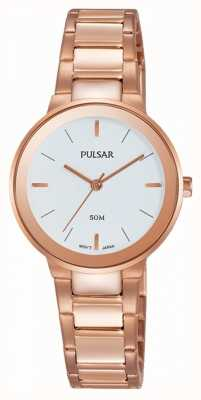 Pulsar Damen Rosé vergoldeten Uhr PH8290X1