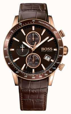 Hugo Boss Mens rafale braunes Lederband braun Zifferblatt 1513392