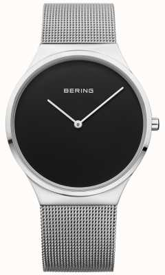 Bering Mens klassisches Milanese Mesh schwarzes Gesicht 12138-002