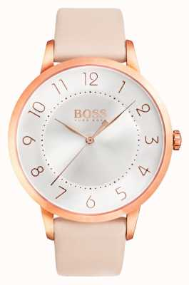 Hugo Boss Womens Eclipse rosa Lederuhr 1502407