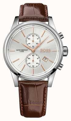 Hugo Boss Herren Jet braun Leder Chrono Ex-Display 1513280EX-DISPLAY