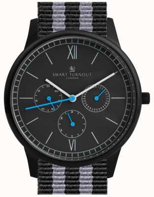 Smart Turnout Time Uhren - schwarz mit nato Band STK2/BK/56/W