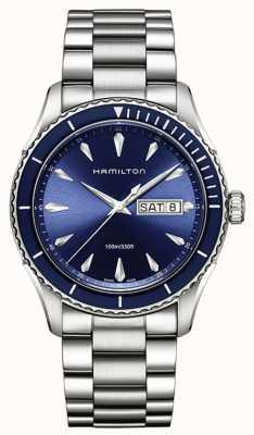 Hamilton Mens Jazzmaster Meerblick Tag Datum blau H37551141