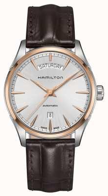 Hamilton Mens Jazzmaster-Datum automatische Leder H42525551