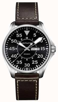 Hamilton Ex-Display aus Quarzleder für Khaki Aviation Pilot für Herren H64611535EX-DISPLAY