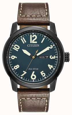 Citizen Mens Öko-Laufwerk braun Leder Chandler BM8478-01L
