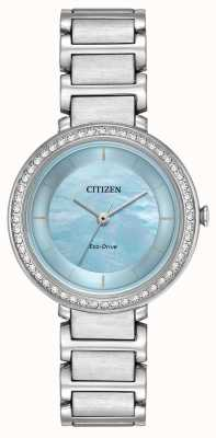 Citizen Womans Eco-Drive Silhouette Kristall blau EM0480-52N