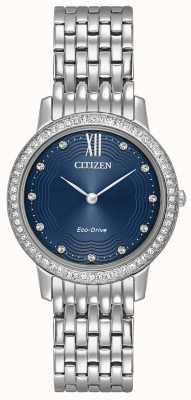 Citizen Womans Eco-Drive Silhouette Kristall blau EX1480-58L