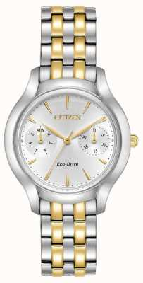 Citizen Womans Eco-Drive Silhouette krämer two tone FD4014-56A
