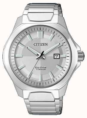 Citizen Mens Eco-Drive Super Titan Silber Uhr AW1540-88A